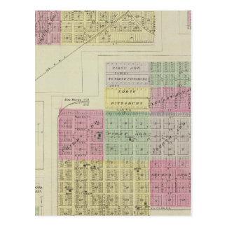 Pittsburg, Walnut, Beulah, and Lichfield, Kansas Postcard