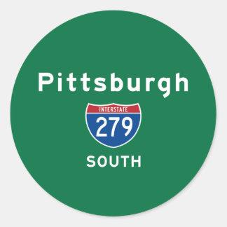 Pittsburgh 279 classic round sticker