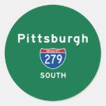 Pittsburgh 279 round sticker