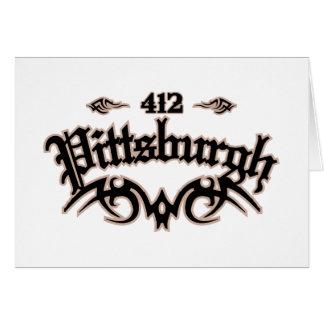 Pittsburgh 412 stationery note card