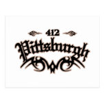 Pittsburgh 412 post card