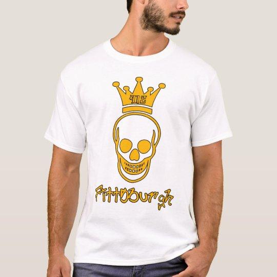 Pittsburgh 412 Skull Shirt - Black and Gold