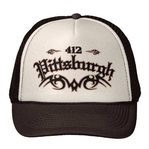 Pittsburgh 412 trucker hat