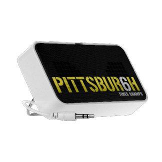 Pittsburgh 6 campeones de las épocas altavoces de viaje