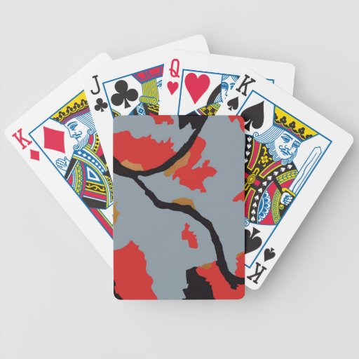 Pittsburgh Abstract Art Bicycle Playing Cards