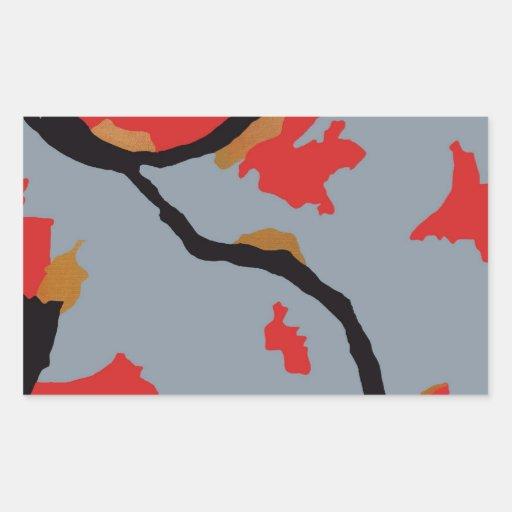 Pittsburgh Abstract Art Rectangular Sticker