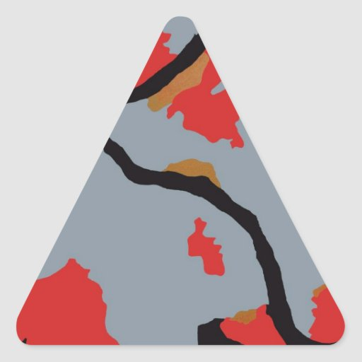 Pittsburgh Abstract Art Triangle Sticker