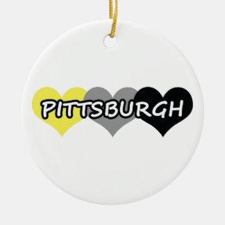 Pittsburgh Adorno Navideño Redondo De Cerámica
