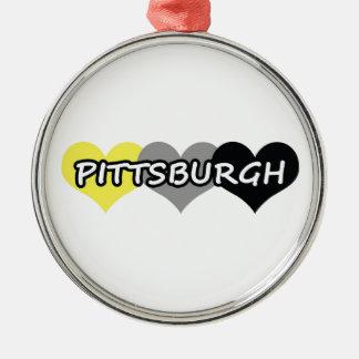 Pittsburgh Adorno Navideño Redondo De Metal