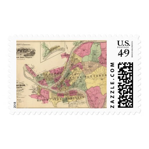 Pittsburgh, Allegheny Postage Stamps