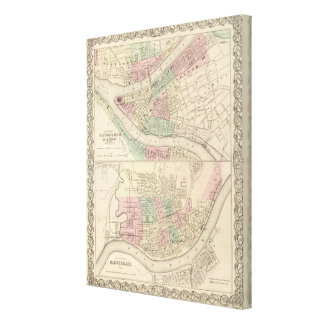 Pittsburgh and Allegheny, Pennsylvania Canvas Print