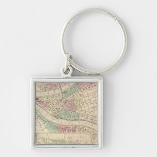 Pittsburgh and Allegheny, Pennsylvania Keychain