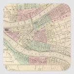 Pittsburgh and Allegheny, Pennsylvania Square Stickers