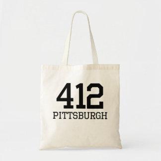 Pittsburgh Area Code 412 Tote Bag