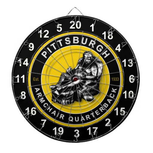 Pittsburgh Armchair Quarterback Football Dartboard Zazzle