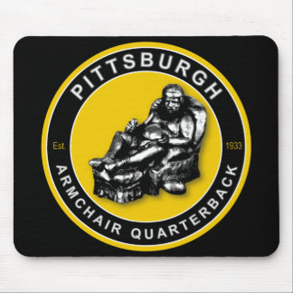 Pittsburgh Armchair Quarterback Football Mouse Mouse Pad