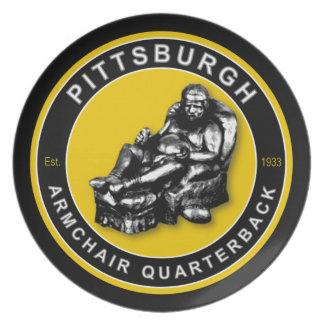 Pittsburgh Armchair Quarterback Football Plate