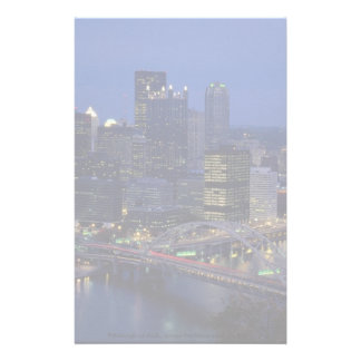Pittsburgh at dusk, across the Monongahela River, Stationery
