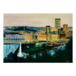 Pittsburgh at Dusk Posters