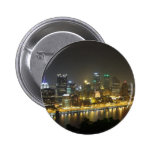Pittsburgh at night 2 inch round button
