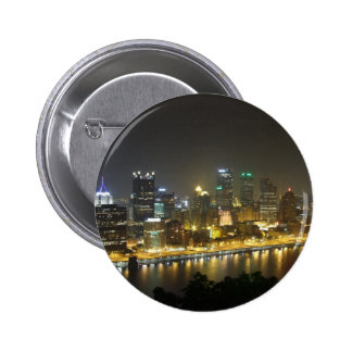 Pittsburgh at night button