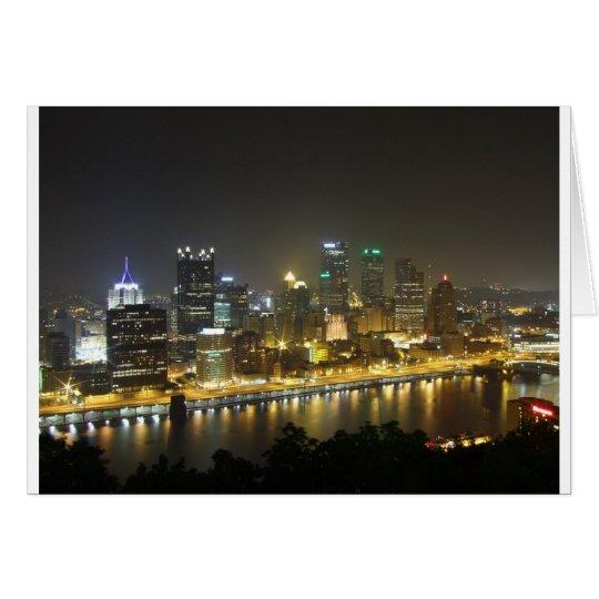 Pittsburgh at night card