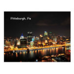 Pittsburgh at night postcards