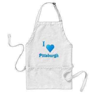 Pittsburgh -- Azul de cielo Delantal