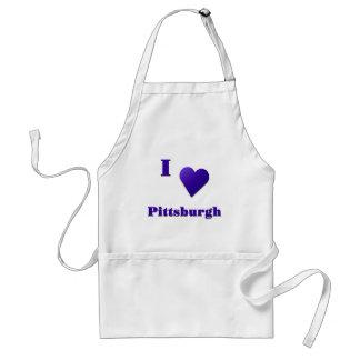 Pittsburgh -- Azul de medianoche Delantales