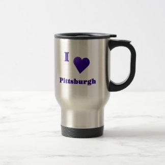 Pittsburgh -- Azul de medianoche Taza Térmica