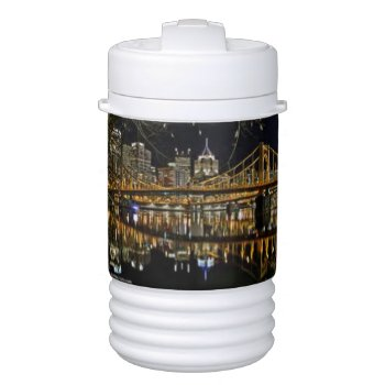 Pittsburgh Bridge Igloo Cooler by creativeconceptss at Zazzle