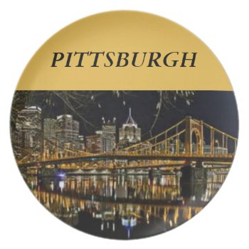 Pittsburgh Bridges Template Melamine Plate by creativeconceptss at Zazzle