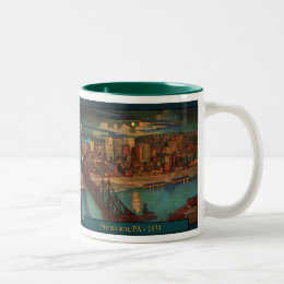 Pittsburgh By Moonlight Coffee Mug