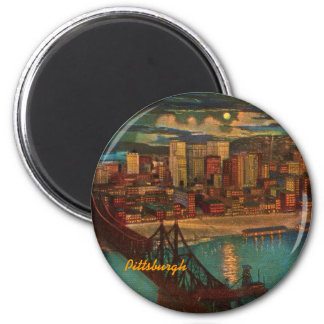 Pittsburgh By Moonlight Magnet