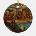 Pittsburgh By Moonlight Ornament