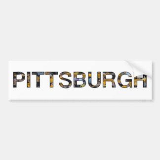 Pittsburgh Etiqueta De Parachoque