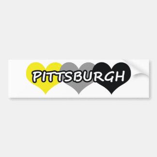 Pittsburgh Pegatina De Parachoque