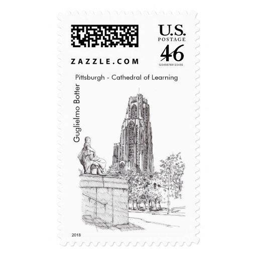 """Pittsburgh, """"catedral del aprendizaje """" sello"""