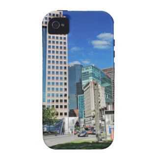 Pittsburgh céntrica vibe iPhone 4 fundas