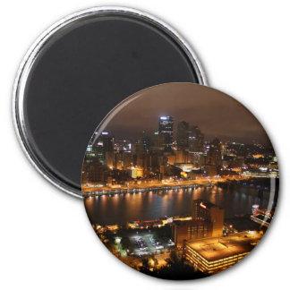 Pittsburgh céntrica imán redondo 5 cm