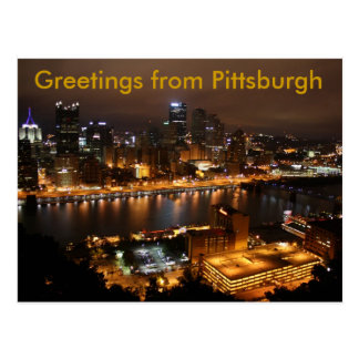 Pittsburgh céntrica, saludos de Pittsburgh Postales