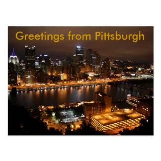 Pittsburgh céntrica, saludos de Pittsburgh Postales