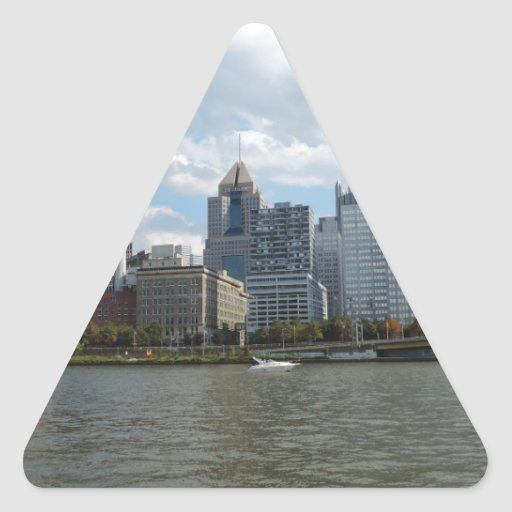 Pittsburgh céntrica Sklyine Pegatina De Triangulo Personalizadas