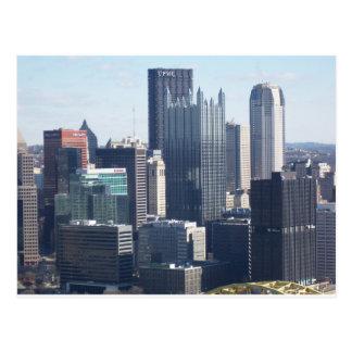 Pittsburgh céntrica tarjeta postal