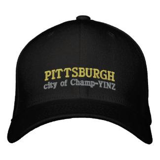 Pittsburgh Champ YINZ Embroidered Baseball Caps