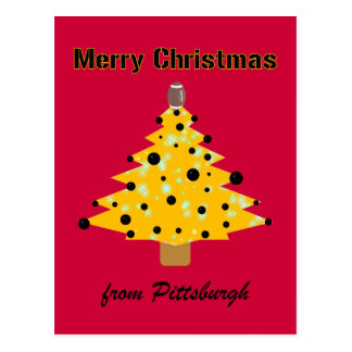 Pittsburgh Christmas Postcard