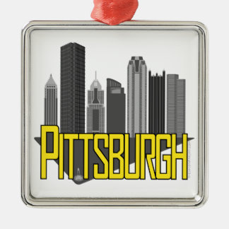 Pittsburgh City Colors Metal Ornament