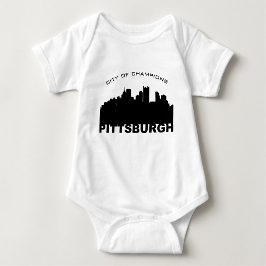 Pittsburgh: City of Champions Black Baby Bodysuit