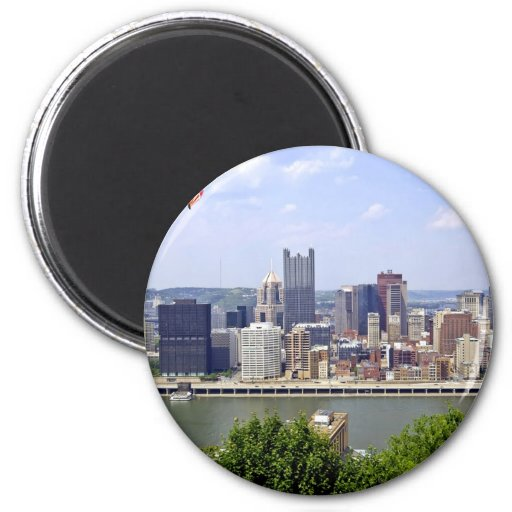 Pittsburgh City Pennsylvania 2 Inch Round Magnet