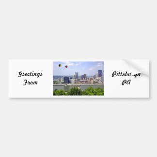 Pittsburgh City Pennsylvania Bumper Sticker